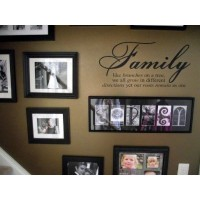 Family Like Branches On A Tree vinyl lettering wall sayings home art decor