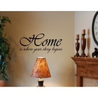 HOME IS WHERE YOUR STORY BEGINS Vinyl wall quotes and sayings art decor decal