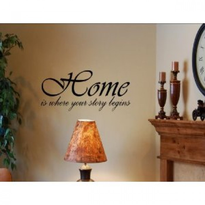 Home Is Where Your Story Begins Vinyl Wall Quotes And Sayings Art