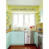Live well Laugh often Love Much 40x7 vinyl wall art sayings decor lettering
